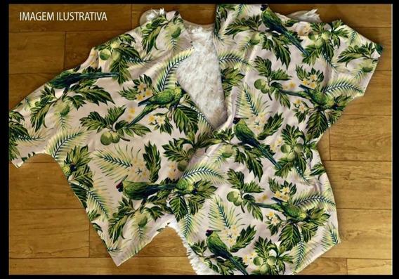 Kit Casal Conjunto Casal Vestido+camiseta Estampa Floral Verde