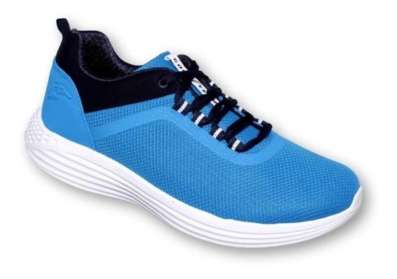 Tenis Para Caballero Marca Good Year Sintetico Azul 6153