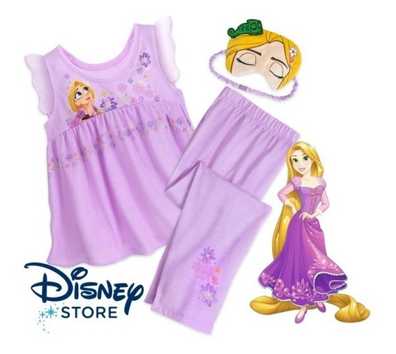 Rapunzel Pijama Deluxe Para Niñas Talla 7 Disney Store