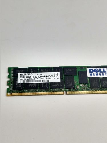 Memória Dell Snpmgy5tc/16g 16gb 2rx4 Ddr3 Pc3l-10600r