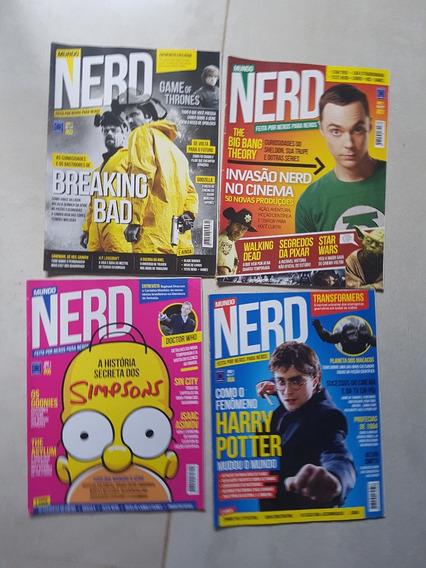 Revista Mundo Nerd ! Lote Com Os Nºs 1, 3, 4 E 5!!!