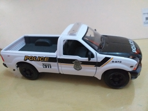 Miniatura Policial Ford F 350 1.24