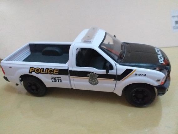 Miniatura Policial Ford F 350 1.24
