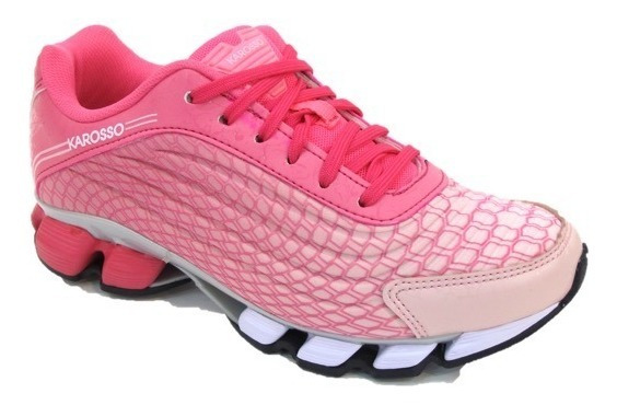 Tenis Para Correr Karosso Mujer 6321 Fiusha Rosa