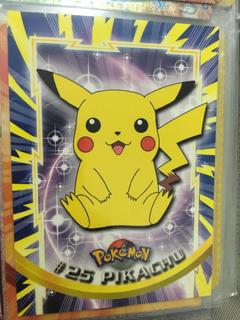 Pikachu Figurita Carta Pokemon Coleccionable Topps #25