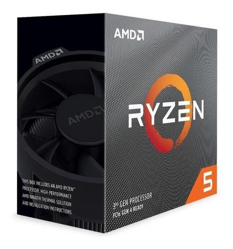 Imagen 1 de 3 de Procesador gamer AMD Ryzen 5 3600 100-100000031BOX de 6 núcleos y 3.6GHz de frecuencia