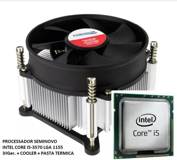 Intel Core I5 3570 6mb 3.40ghz Até 3.80ghz Lga 1155 + Cooler