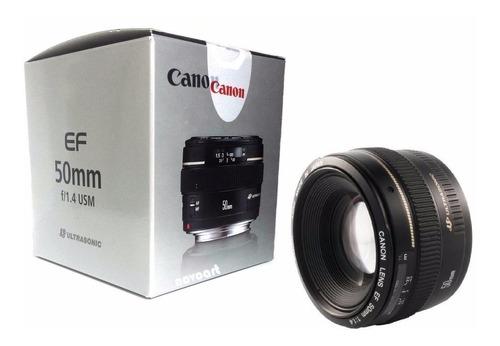 Lente Canon Ef 50mm F/1.4 Usm Eos F1.4 Nova Garantia Brasil
