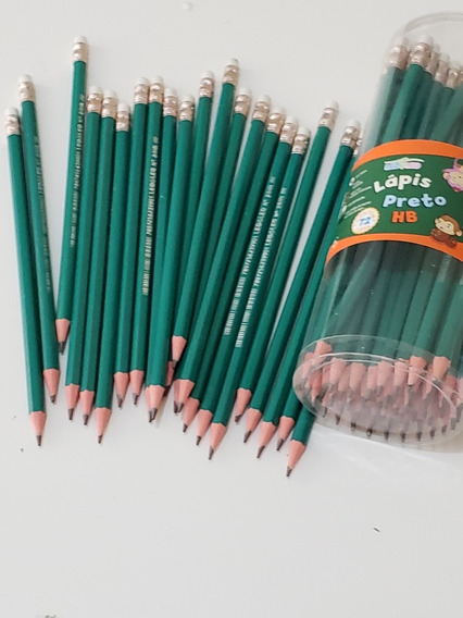 Lapis De Escrever Com Borracha / Kit Com 72 Unidades