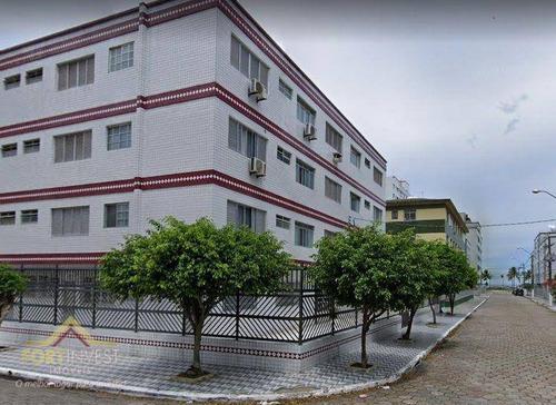 Imagem 1 de 10 de Apartamento Com 1 Dormitório À Venda, 42 M² Por R$ 170.000 - Vila Guilhermina - Praia Grande/sp - Ap2758