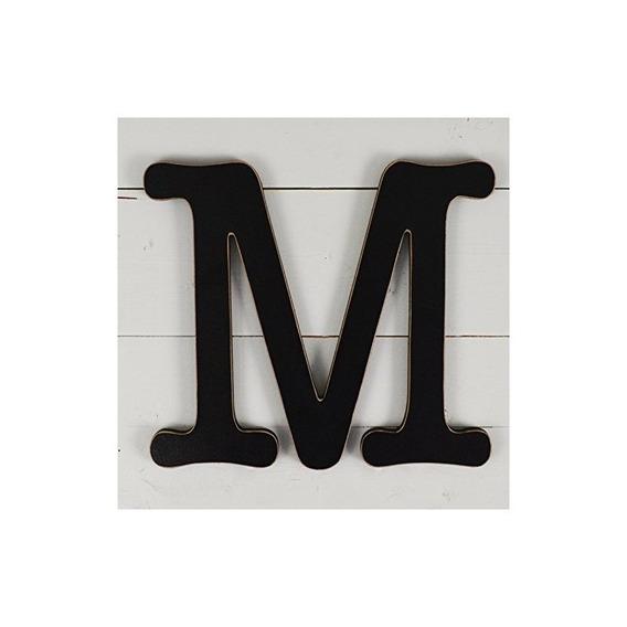 11.5 Decoración De Pared De Máquina De Escribir Letra M- Neg