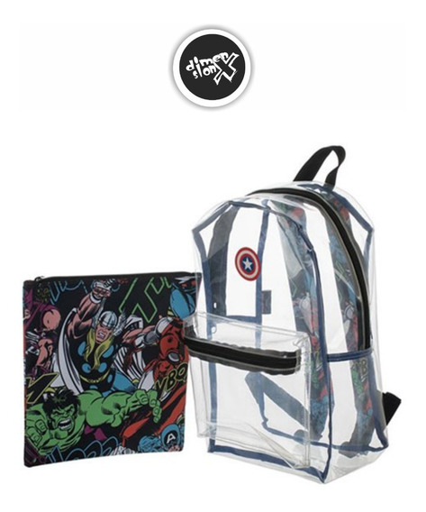 Mochila Capitan America Clear Marvel Backpack Bioworld