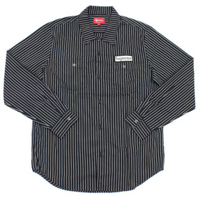 Supreme Camisa Polo - Striped Work Shirt - Talla L
