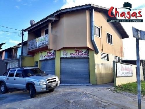 Imagem 1 de 2 de Ponto Comercial Com Residência Em Caraguatatuba. - 1244