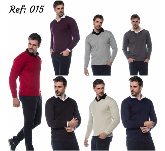 Kit 4 Suéters Masculino