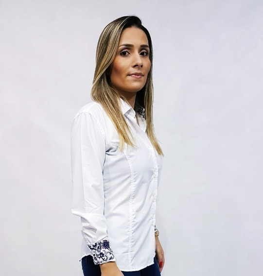 Kit 3 Camisa Social Feminina Slim Fit Do 36 Ao 48