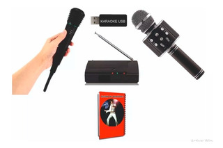 Karaoke Profesional Usb 8515 Temas + Microfono Inalambrico