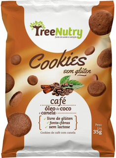 Kit 45 Un Cookies De Café Com Óleo De Coco E Canela 35g Cada