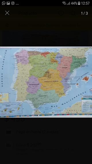 Mapa Mural De España.