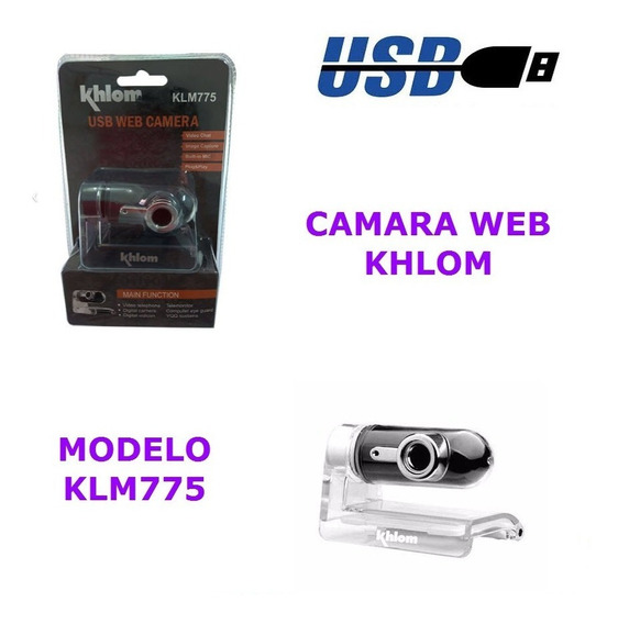 Camara Webcam Khlom Klm775 Usb Laptop Pc Video Microfono Ccc
