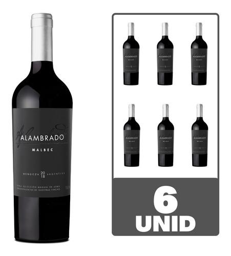 Imagen 1 de 6 de Vino Alambrado Malbec 750ml Tinto Santa Julia Caja Pack X6