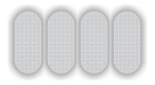 Imagem 1 de 2 de Cartela Etiqueta Refletiva P/ Capacete Sherman  7cm