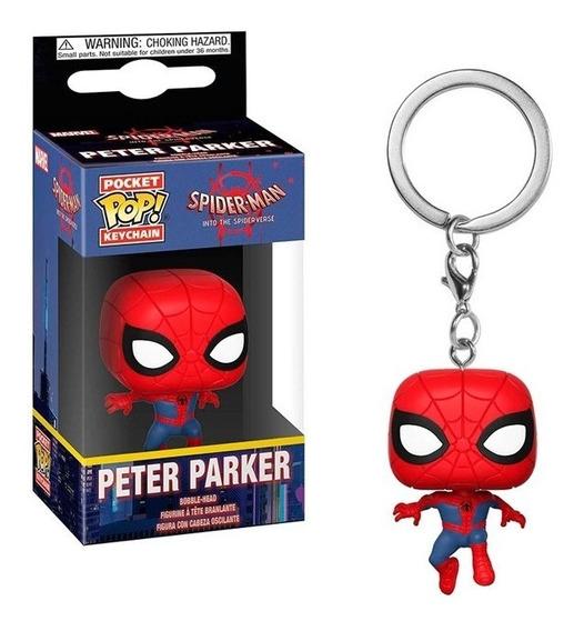 Llavero Funko Pop Peter Parker Spiderman Marvel Nuevo Full