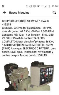 Grupo Generador 50 Kw 62,5 Kva