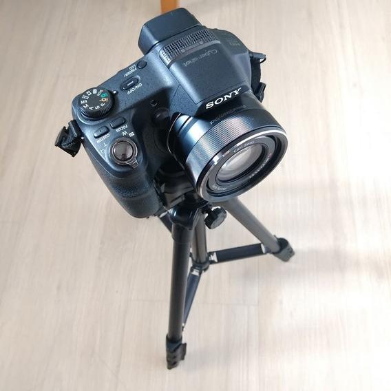 Câmera Sony Profissional Com Tripé E Cartão De Memória