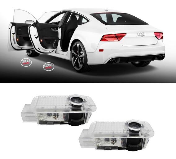 Luz Led Projetor Porta Audi A3 A4 A5
