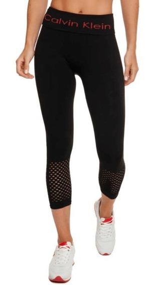 Calça Legging Calvin Klein Sports Athletic Seamless Com Tela
