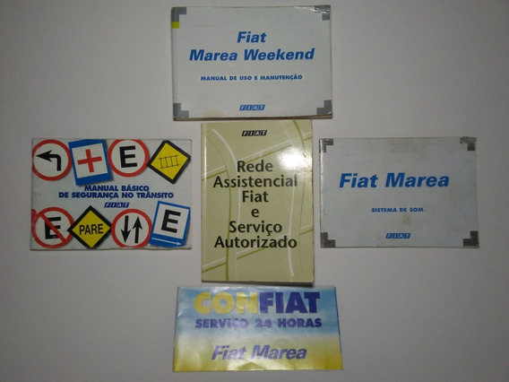 Manual Proprietário Fiat Marea Weekend Hlx 98/99 Oem