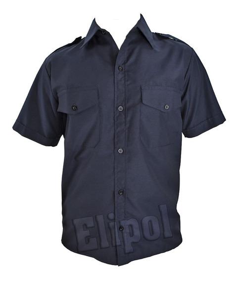 Camisa Manga Corta Policia De Provincia Verano Con Escudo