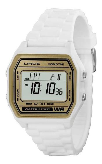 Relógio Feminino Lince Digital Branco 100 Metros