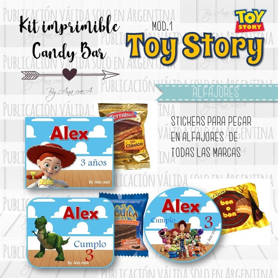 Kit Editable - Candy Bar- Toy Story Mod.1 Imprimible
