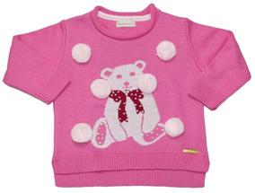 Blusao Urso Rosa Soft - Bebelândia