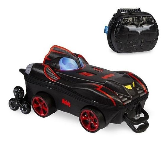 Mochila Escolar Batman Chrome Wheels 3d Com Rodinhas E Lanc