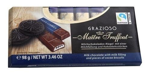 Imagen 1 de 1 de Chocolate Maître Truffout Grazioso Galletas Y Crema 98 Gr