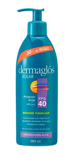 Dermaglós Protector Solar Fps40 Familiar Piel Sensible 380ml