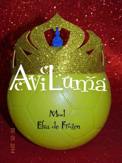 Souvenir Corona Vincha Elsa De Frozen Dorada Aviluma