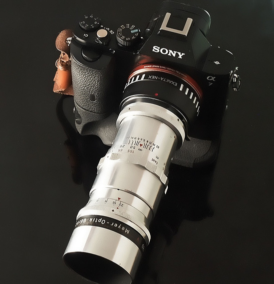 Lente Meyer Telemegor 180mm 15lamin.exa + Adapt. Novo Canon