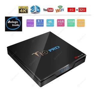 Tv Box T10 Pro 4k 4gb Ram Y 32 Gb Netflix 3 Meses