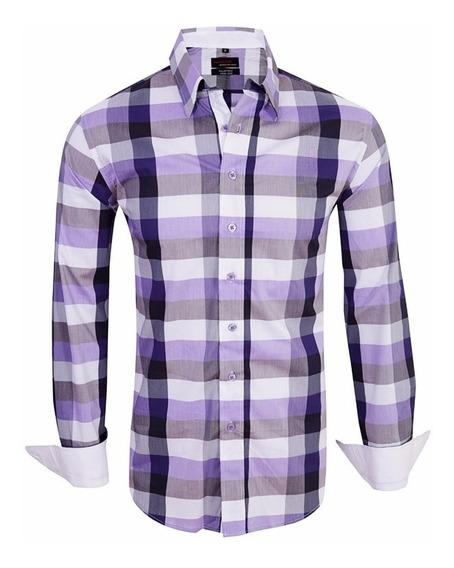 Camisa Entallada Elastizada Slim Fit Z333 - Quality Import