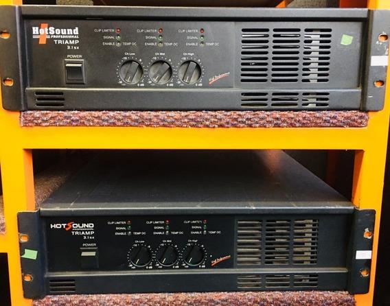 Amplificador Potencia Hotsound Triamp - 12 X Sem Juros