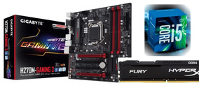 Kit Kaby Lake Ga-h270m-gaming 3 + I5-7400 + 8gb Ddr4