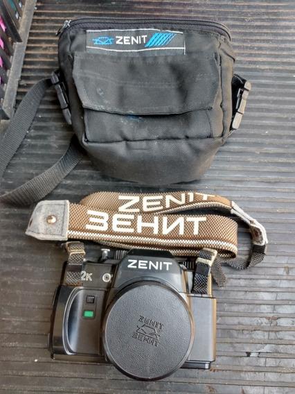 Câmera Zenit 122k Com Bolsa, Alça E Lente 50mm