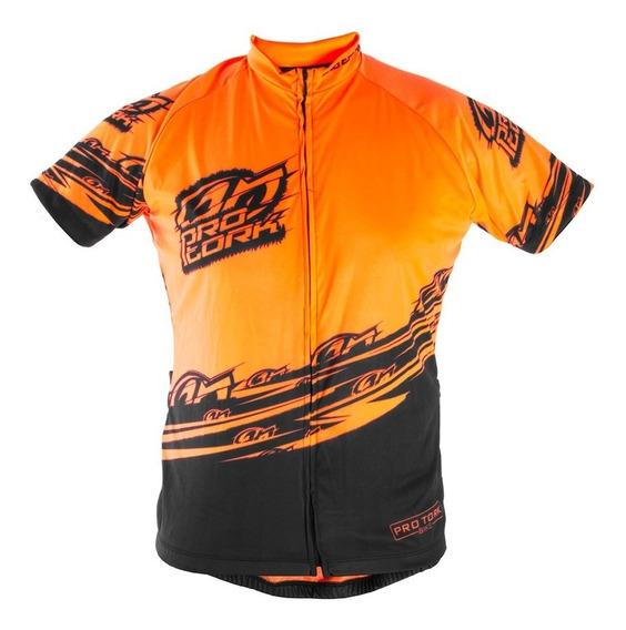 Camisa Ciclismo Bike Bicicleta Pro Tork Line Hi-vis Laranja