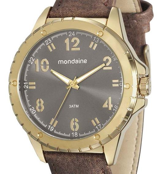 Relógio Mondaine Masculino 76676gpmvdh3 Dourado + Nf