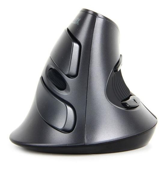 Mouse Ergonômico Delux M618 Vertical Preto 1600dpi Sem Fio