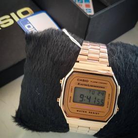 Relógios Femininos Top Casio Vintage Rosé Aço Inox 12x S/j